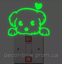 Светящаяся наклейка на включатель (выключатель) , розетку , стену в детскую, светящаяся в темноте S172