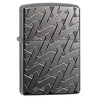 Зажигалка Zippo 49173 Armor® High Polish Black Ice® Deep Carve, фото 1