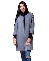 Стильное женское пальто прямого кроя (размеры XS-XL)