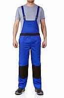 Полукомбинезон рабочий комбинезон синий с черным рабочая спецодежда
