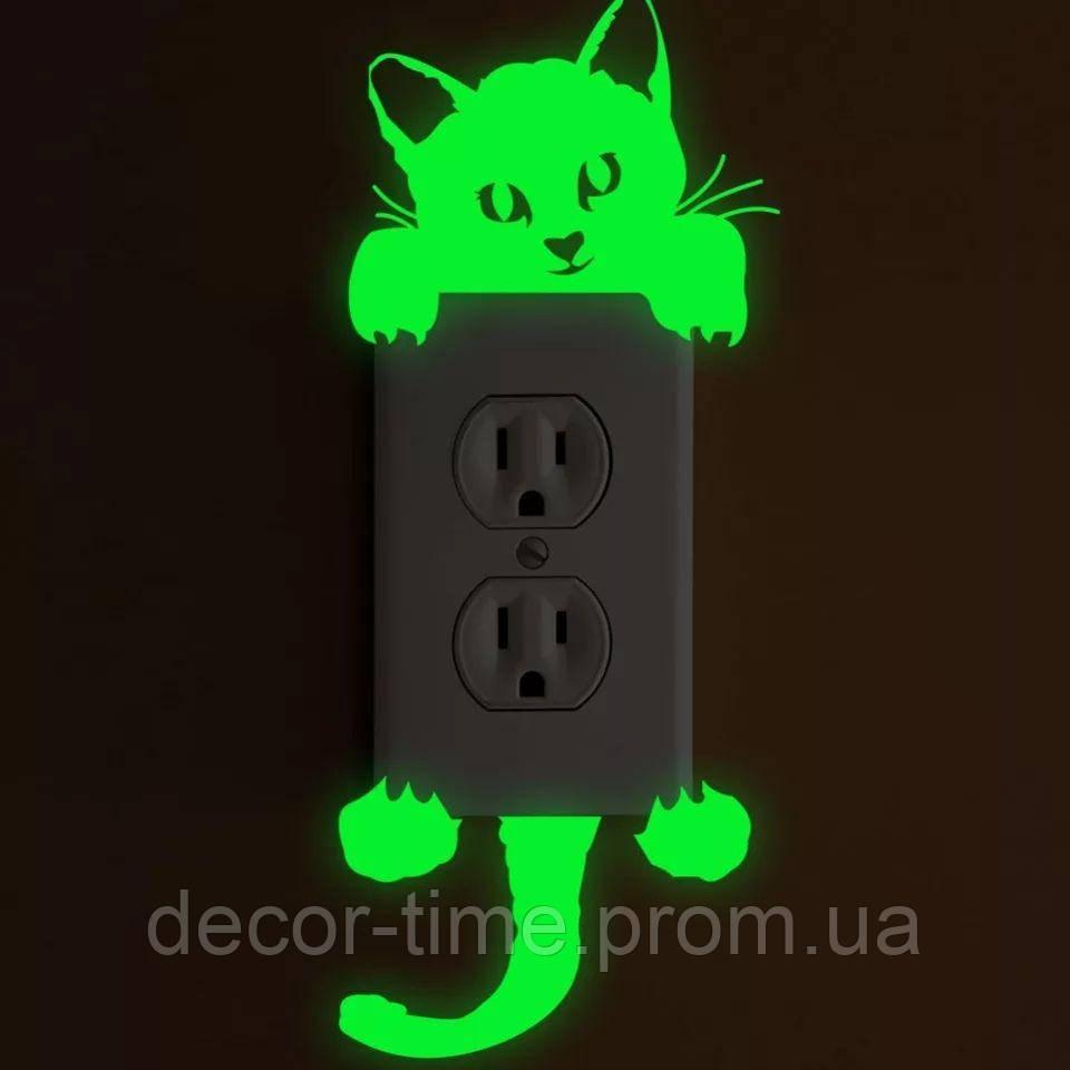 Світна наклейка на вимикач (вимикач) , розетку , стіну в дитячу, що світиться в темряві K154