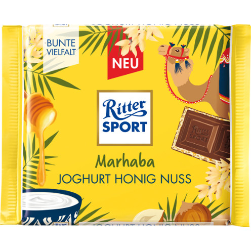 Ritter Sport йогурт, мёд и дроблённый фундук в молочном шоколаде