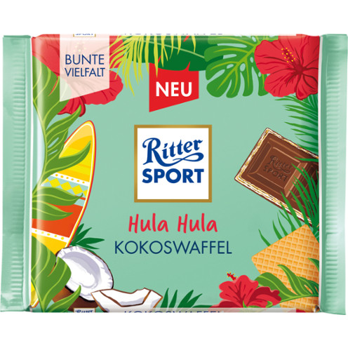 Ritter Sport Молочный шоколад с кокосовой вафелькой