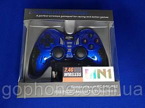 Универсальный Джойстик Wireless (PS2 PS3 PC Android TV Box) синий