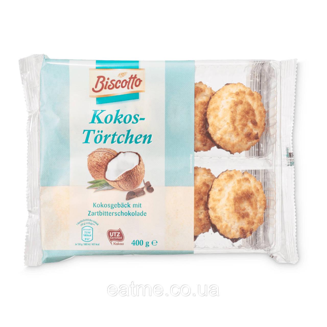 Biscotto Kokos-Tortchen Кокосовое печенье в чёрном шоколаде