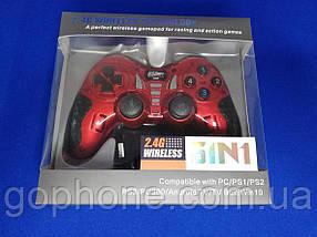 Универсальный Джойстик Wireless (PS2 PS3 PC Android TV Box) красный