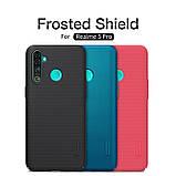 Nillkin Realme 5 Pro Super Frosted Shield Black Чехол Накладка Бампер, фото 4