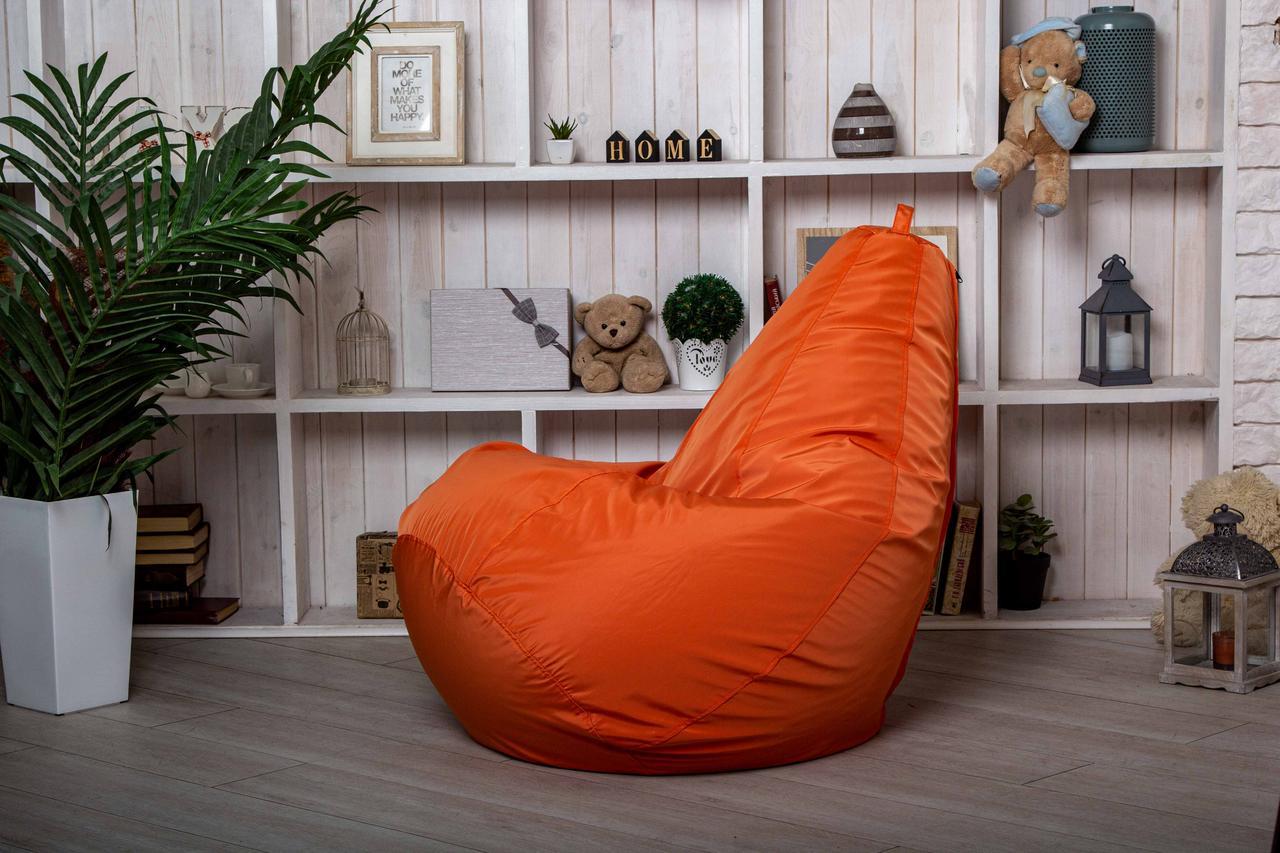 Кресло мешок груша бескаркасное пуфик  XL (120х75) Оранжевое