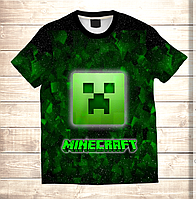 Футболка 3D дитяча MINECRAFT Logo Neon, фото 1