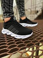 Мужские кроссовки черные сетка MJ 01, фото 1