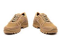 Кросівки тактичні чоловічі жіночі літні шкіряні МБС підошва 6с койот, фото 1