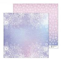 Бумага для скрапбукинга «Ды×ание зимы», 30,5 × 30,5 см