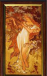 """Картина из янтаря """" Весна"""""""