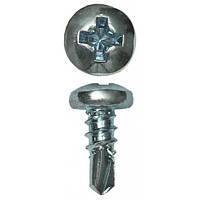 Саморез по металлу  3,5х  9,5 блоха оцинкованный сверло