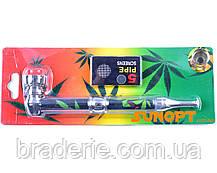Курительная трубка металлическая 4021 со сменными сетками, фото 2