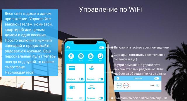 WiFi управление освещением