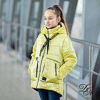 Куртка-жилет демисезонная для девочки «Верес» желтый