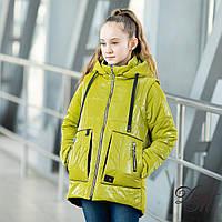 Куртка-жилет демисезонная для девочки «Верес» лимонный