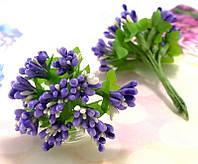Тычинки с листиками, двухцветные (цена за букетик) Цвет - Сиреневый