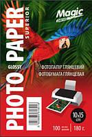Глянцевая фотобумага 10x15, 180 г./м. Magic (100 листов) Superior