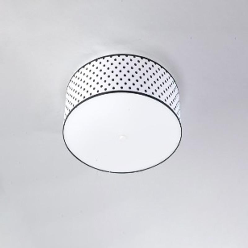Люстра потолочная на три лампы с абажуром NM-H814684/3 WT+WT E27 TK белая