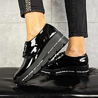 Туфли женские из натуральной кожи, черного цвета (весна/осень)