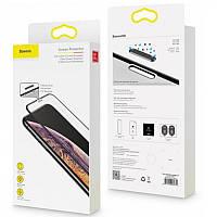 Защитное стекло Baseus Full-Screen Tempered Glass iPhone X/XS (SGAPIPHX-KC01) Black (0.3mm)