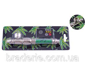 Курительная трубка металлическая 4023 со сменными сетками, фото 2