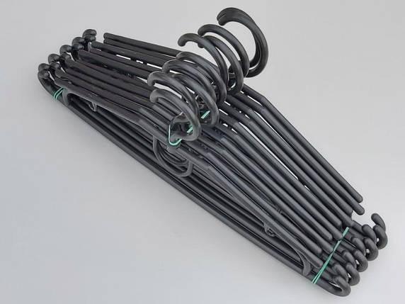 Плічка вішалки тремпеля V-D39 чорного кольору довжина 39 см, в упаковці 10 штук, фото 2