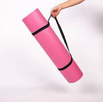 Йогамат для фітнесу/ килимок для йоги (Рожевий), фото 2