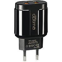 СЗУ Optima Avangard OP-HC02 2USB 2.4A Black