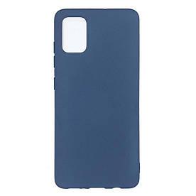 Чехол накладка для Samsung Galaxy A71 A715 силиконовый матовый, Fresh Series, Синий