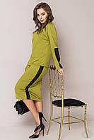 Стильный деловой трикотажный костюм Исида, фото 1