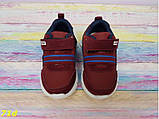 Детские кроссовки хайтопы марсала бордо с резинкой 23 р. (71d), фото 3