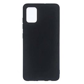Чехол накладка для Samsung Galaxy A71 A715 силиконовый матовый, Fresh Series, Черный