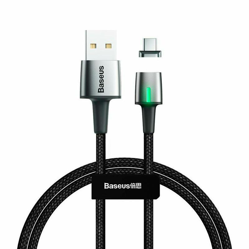 Кабель USB Baseus Zinc Fabric Magnetic Type-C (CATXC-A01) Black 1m