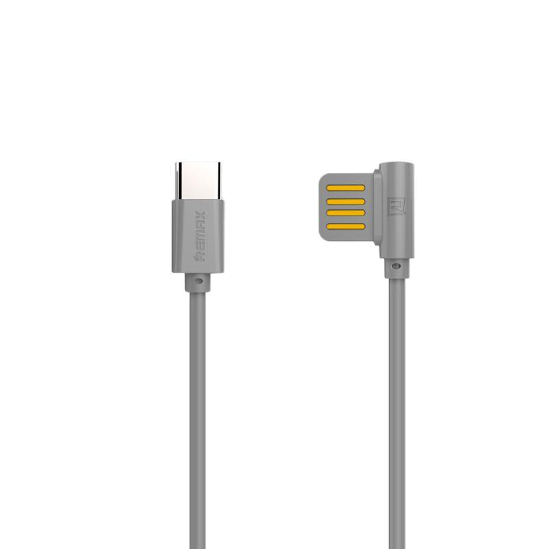 Кабель USB Remax Rayen RC-075a Type-C Grey 1m