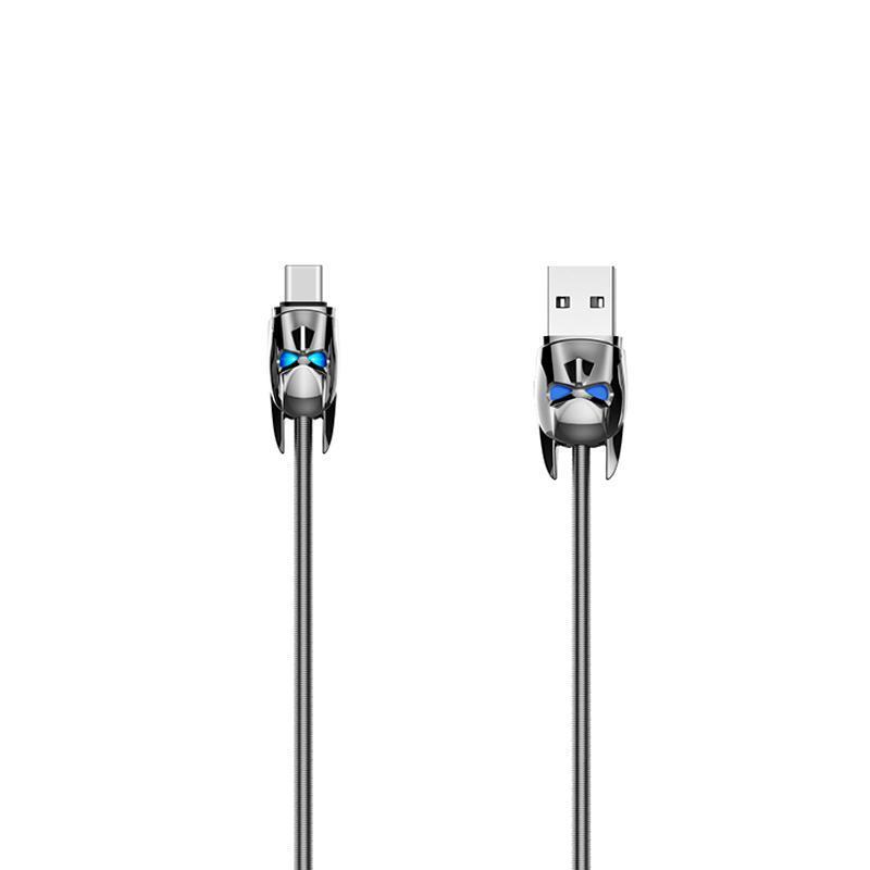 Кабель USB Hoco U30 Shadow Knight Type-C Grey 1.2m