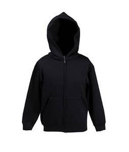 Детская премиум куртка-толстовка с капюшоном 36 Черный 116 см