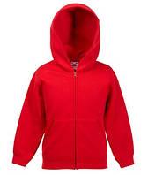 Детская премиум куртка-толстовка с капюшоном 40 Красный 140 см