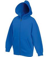 Детская премиум куртка-толстовка с капюшоном 51 Ярко-Синий 140 см