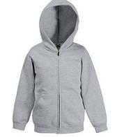 Детская премиум куртка-толстовка с капюшоном 94 Серо-Лиловый 164 см