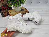 Хайтопы сникерсы демисезоннные белые фила 38 (774), фото 5