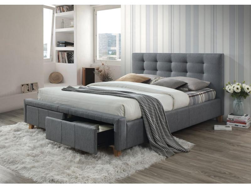 Кровать ASCOT 160 серый (Signal)