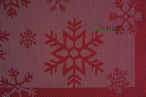 Салфетка виниловая под столовые приборы с узором снежинка  30см*45см, серветка сервірувальна, фото 2