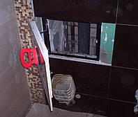 Потайной люк скрытого монтажа под плитку 300х600 мм (30х60 см) на присоске