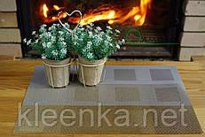 Салфетка виниловая под столовые приборы с узором квадрат  30см*45см, серветка сервірувальна