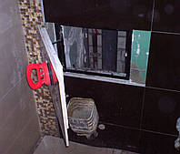 Потайной люк  400х200 мм (40х30 см) под плитку на присосках