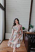 """Платье с принтом """"Цветы"""" Udler, фото 1"""