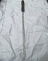 Шампур Люкс міні нержавіючий з дерев'яною ручкою 60 см (3 мм)
